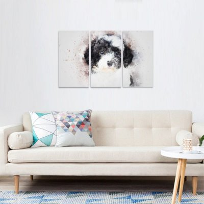 Quadro Cute Dog Cachorrinhos decorativo