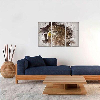 Quadro Águia do Mar Artístico em 3 Telas Eagle