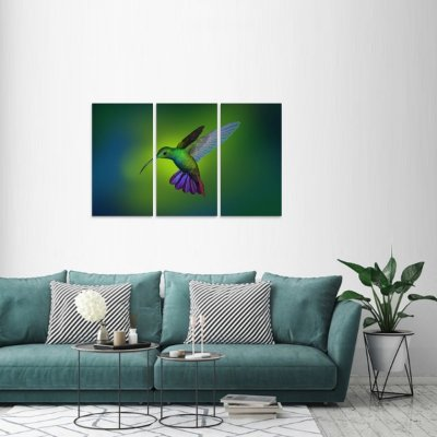 Quadro decorativo Pássaro Beija Flor Artístico