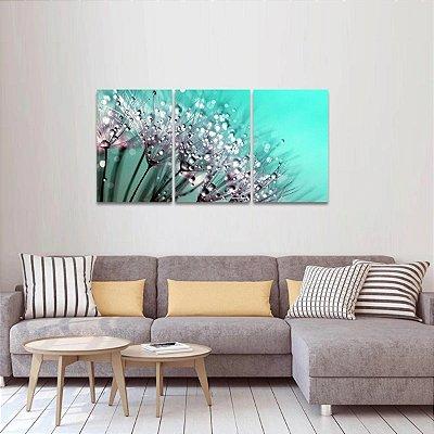 Quadro Abstrato Flor Dente de Leão Arte
