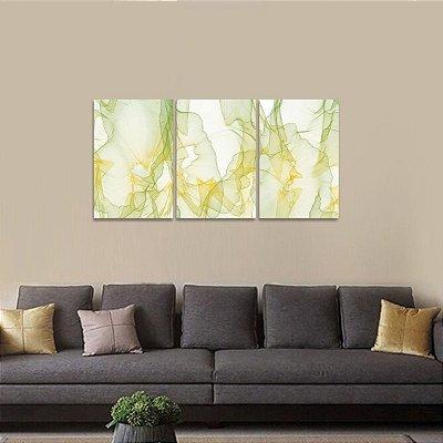 Conjunto Abstrato Moderno em 3 Telas Design