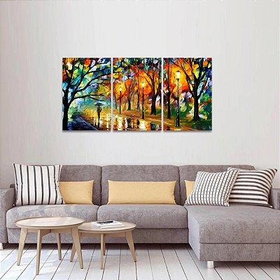 Quadro Abstrato Moderno Colorido A Passagem