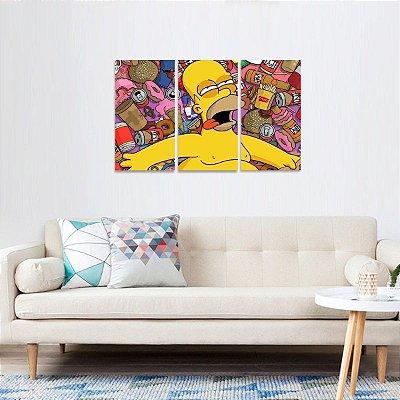 Quadro Homer Preguiçoso Os Simpsons
