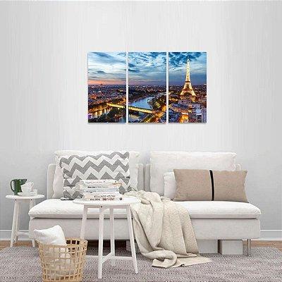 Quadro Cidade de Paris França Paisagem Torre Eiffel