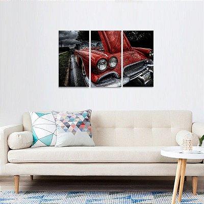 Conjunto 3 Telas Carros Clássicos Corvetti