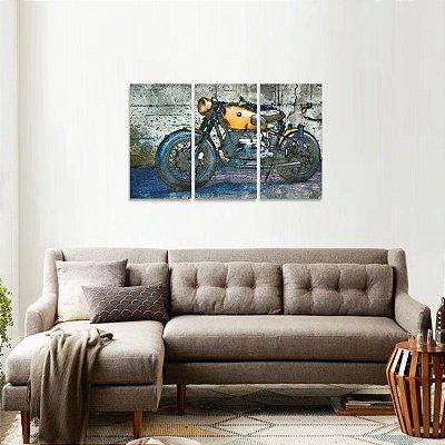 Quadro Moto Bmw Artístico Jogo 3 Peças decorativo