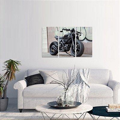 Quadro Mosaico Ducati Motos Conjunto 3 Peças