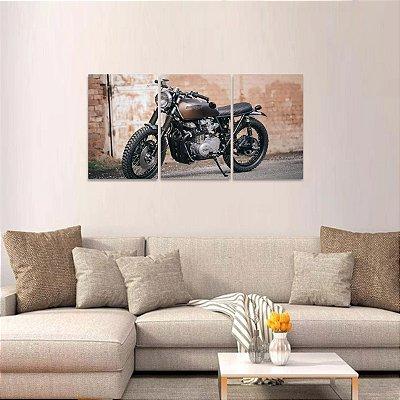 Quadro Motos Clássicas Kawasaki Jogo 3 Peças