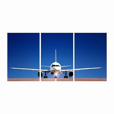 Quadro Avião Decolagem Céu Azul decorativo