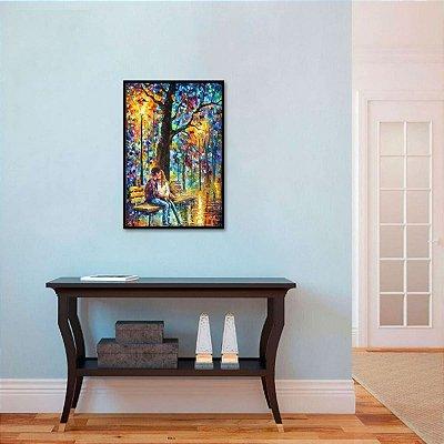 Quadro Abstrato Moderno Colorido A Felicidade