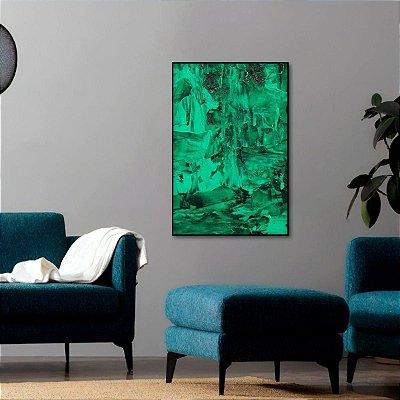 Quadro Abstrato Arte Estilo Pintura O Verde