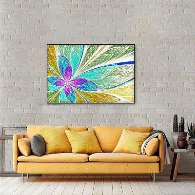 Quadro decorativo Vitral Abstrato Colorido Moderno