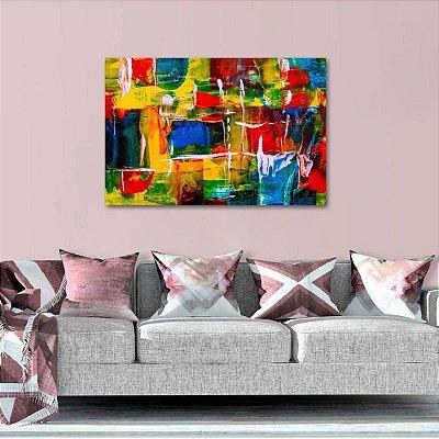 Quadro Arte Expressionismo Abstrato Multicolorido decorativo