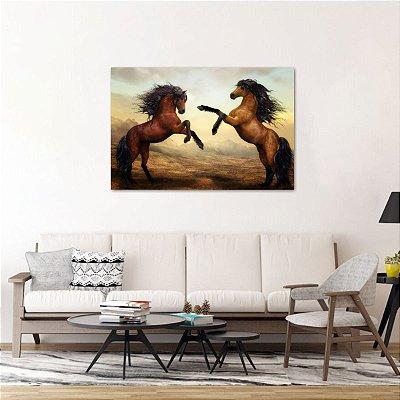 Quadro decorativo Artístico Os Dois Cavalos