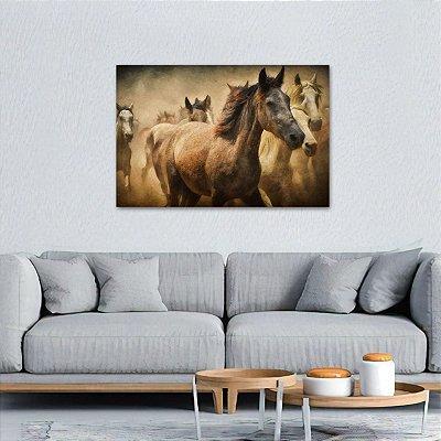 Quadro A Tropa de Cavalos Artístico decorativo