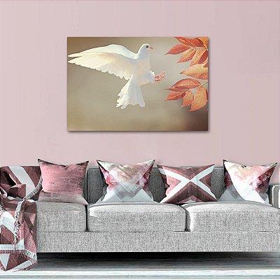 Quadro Pássaro Branco Natureza Paisagem