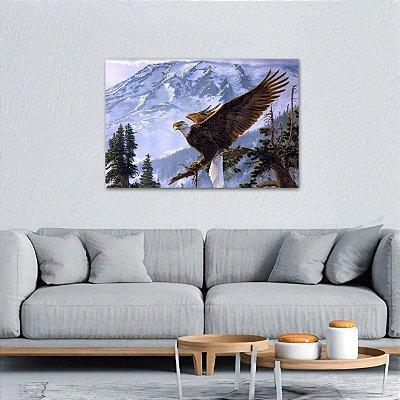 Quadro Águia Voando Artístico Natureza Paisagem