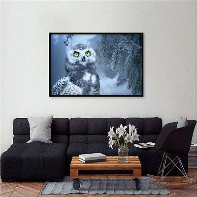 Quadro Owl Coruja na Natureza Arte decorativo
