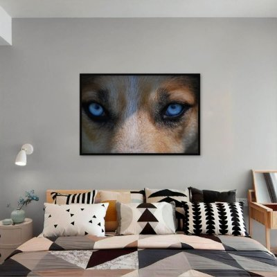 Quadro The Wolf Blue Eyes decorativo Lobos