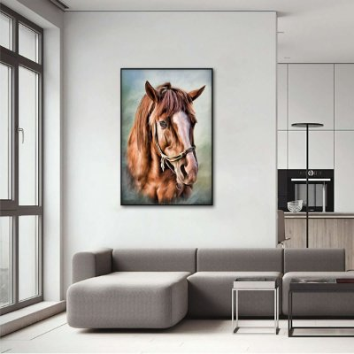 Quadro O Cavalo Artístico Beautiful Horse decorativo