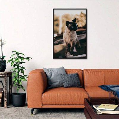 Quadro decorativo O Gatinho The Cat Vertical