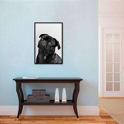 Quadro decorativo The Pug Dog Cachorro em P&B