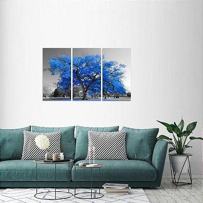 Conjunto 3 Peças Árvore da Vida Paisagem Azul