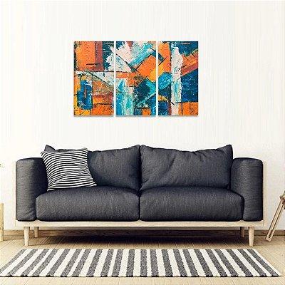 Conjunto Abstrato 3 Peças Moderno Artístico