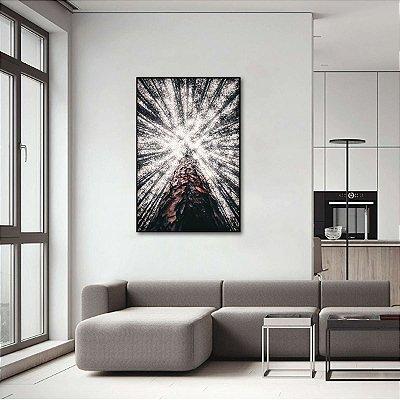 Quadro Abstrato Topo de Árvore Galhos Secos decorativo