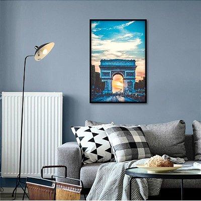 Quadro Arco do Triunfo Paisagem Arquitetura decorativo Paris