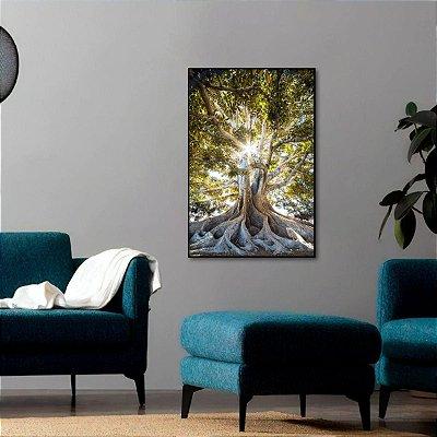 Quadro Árvore da Vida Raízes Natureza Vertical