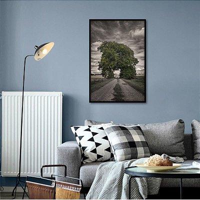 Quadro decorativo A Árvore Distante Paisagem Arte