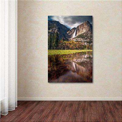 Quadro Lago Montanhas Arte Paisagem decorativo