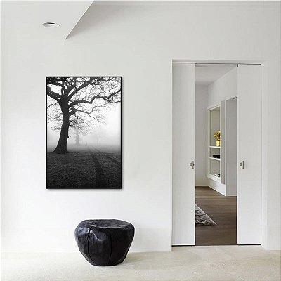Quadro O Nevoeiro Árvore Solitária Preto e Branco
