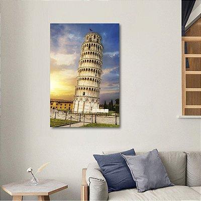 Quadro Torre de Pisa Itália Pontos Turísticos decorativo