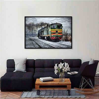 Quadro Arte Trem Locomoção decorativo Rússia