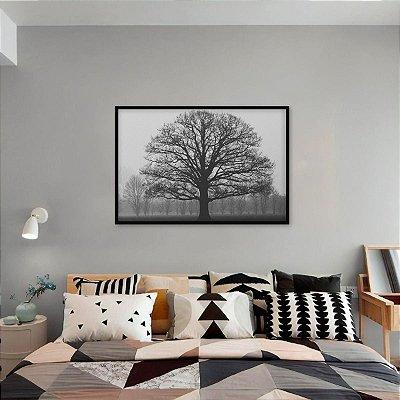 Quadro Frio do Amanhecer Árvore da Vida em P&B