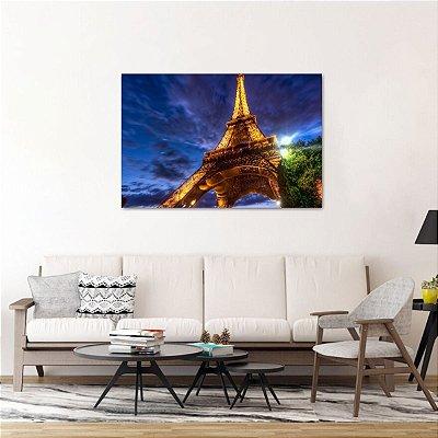 Quadro Noite de Paris Torre Eiffel Iluminação