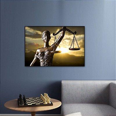 Quadro Deusa da Justiça Direito Advocacia decorativo