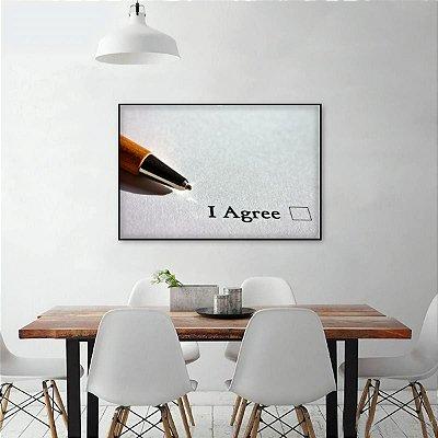 Quadro I Agree Advocacia O Acorda Assinatura decorativo