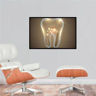 Quadro O Dente Artístico decorativo Dentistas e Consultórios