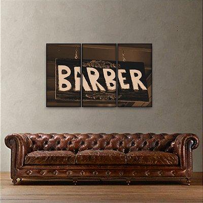 Quadro decorativo Barber Shop Mosaico 3 Peças Barber Shop