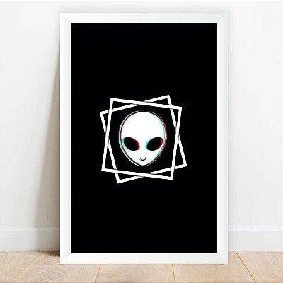 Quadro Arte Alienígena Decorativo