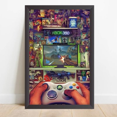 Quadro decorativo Quarto da Jogatina Video Games