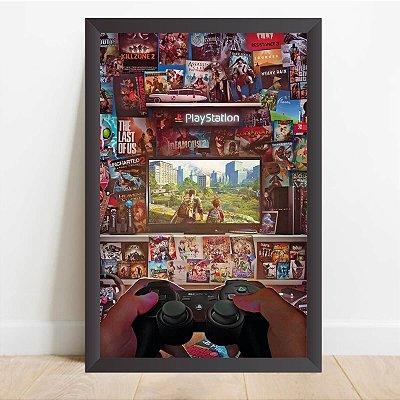 Quadro decorativo Video Game A Arte de Jogar Gamers