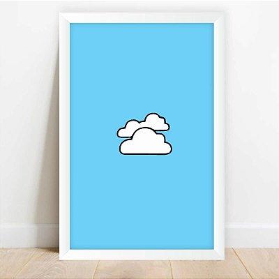 Quadro Infantil Pequenas Nuvens decorativo