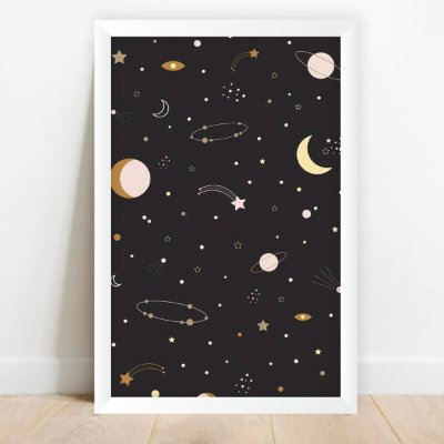 Quadro Universo Drawing Lua Planetas Estrelas