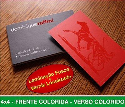 Cartão de Visita 1.000 unid. - BOPP + VERNIZ LOCALIZADO + Frente e verso Coloridos