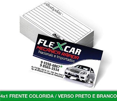 Cartão de Visita 1.500 Unid - Frente Colorida Verso Preto e Branco