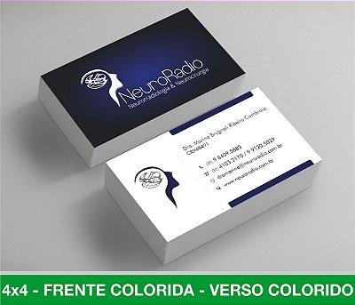 Cartão de Visita 500 Unid - Frente e Verso Coloridos